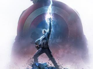 Captain America Thor Hammer wallpaper