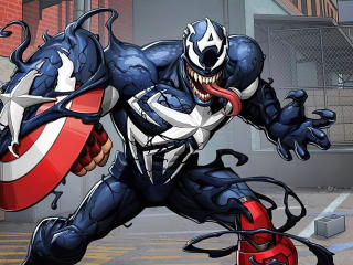 Captain America x Venom wallpaper