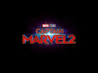 Captain Marvel 2 Logo wallpaper