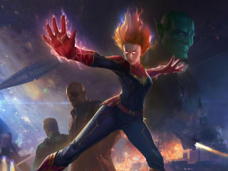 Captain Marvel Angry wallpaper