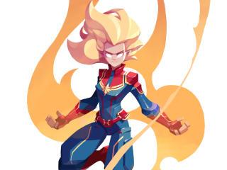 Captain Marvel Artstation wallpaper