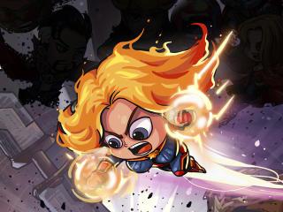 Captain Marvel Cartoon Marvel Art wallpaper