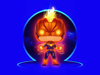 Captain Marvel Funko 4k wallpaper
