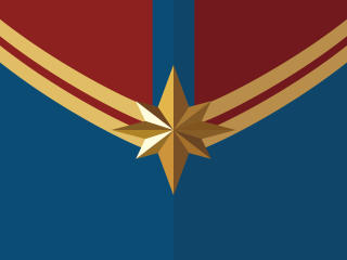 Captain Marvel Logo 4K wallpaper
