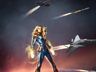 Captain Marvel Movie Poster Art wallpaper