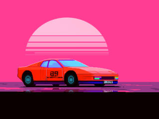 Car Pixel Art wallpaper