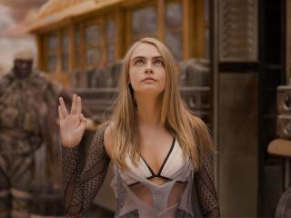 Cara Delevingne As Laureline In Valerian And The City Of A Thousand Planets wallpaper