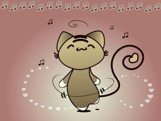 cat, dance, music wallpaper