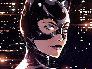 Catwoman Mask DC Comic wallpaper