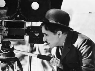 charlie chaplin, camera, bowler hat wallpaper