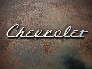 chevrolet, logo, rust wallpaper