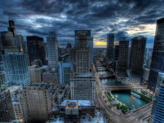 chicago, buildings, skyscrapers wallpaper