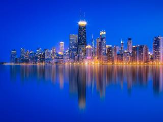 Chicago Lake Michigan Skyscraper Reflection wallpaper