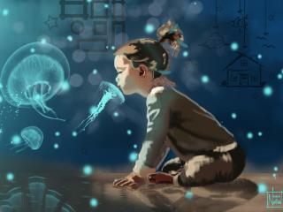 Childhood Dream Imagination wallpaper