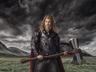 HD Wallpaper | Background Image Chris Hemsworth  As Thor In Endgame