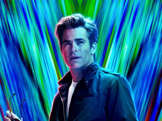Chris Pine In Wonder Woman 1984 wallpaper