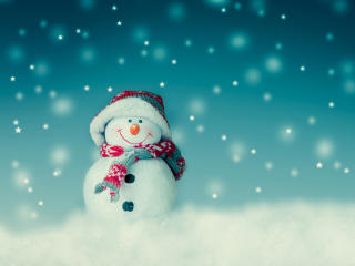 Christmas Cute Snowman Toy wallpaper