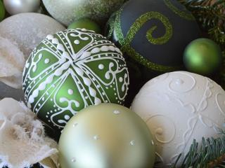 christmas decorations, christmas balls, new year wallpaper