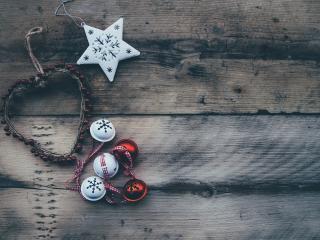 christmas, sphere, heart wallpaper