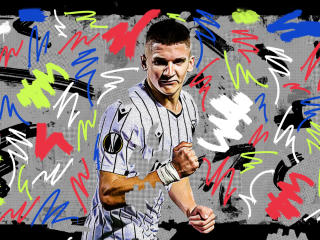 Christos Tzolis Greek footballer wallpaper