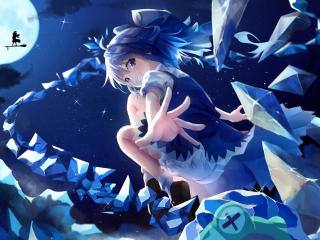 Cirno  Blue Hair Touhou wallpaper