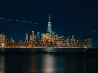 HD Wallpaper | Background Image City Lights Reflection In Water