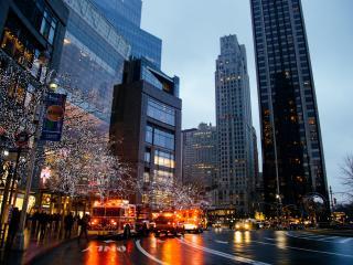city, night, buildings wallpaper