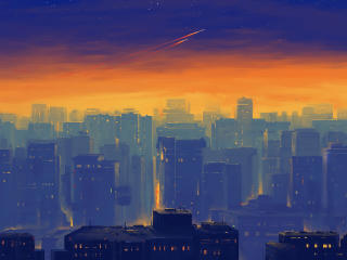 Cityscape Artwork wallpaper