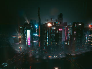 Cityscape Cyberpunk 2077 wallpaper