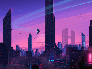 Cityscape Futuristic Skyscraper wallpaper