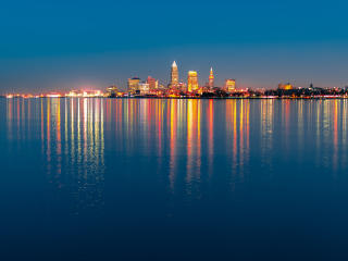 HD Wallpaper | Background Image Cleveland City Night Light