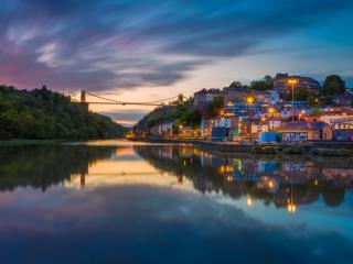 Clifton Suspension Bridge Houses wallpaper