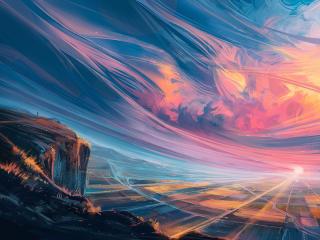 Cloudy Artistic Landscape 2021 wallpaper