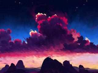 Cloudy Day Art wallpaper