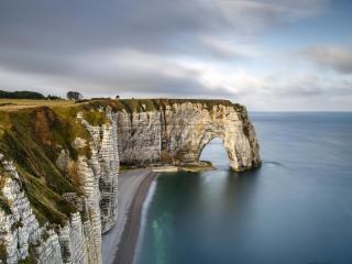 Coastline HD Normandy Arch wallpaper