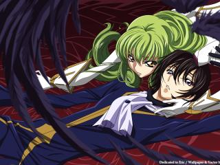 code geass, boy, girl wallpaper