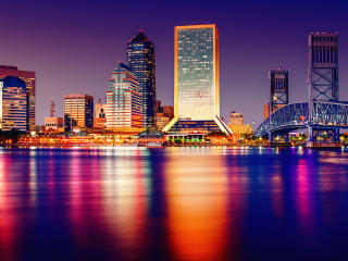 HD Wallpaper | Background Image Colorful Cityscape Buildings And Lake