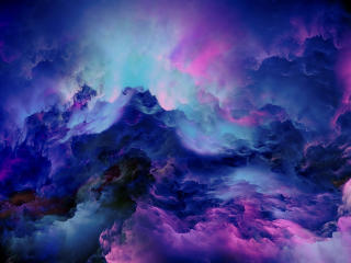 Colorful Clouds Abstract 4K wallpaper