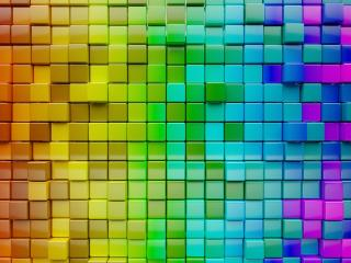 Colorful Cube Pattern wallpaper