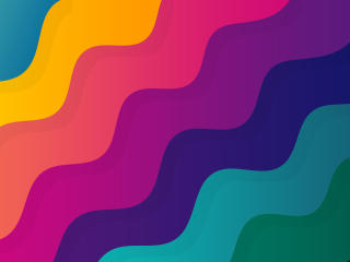 Colorful Digital Wave 10K wallpaper