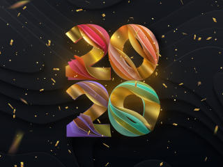 Colorful New Year 2020 wallpaper