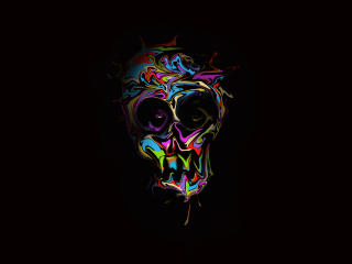 Colorful Skull Art wallpaper