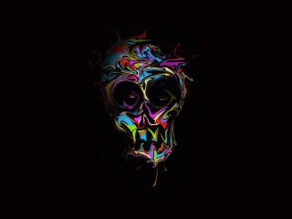 Colorful Skull Art wallpaper