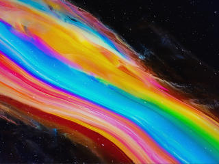 Colorful Space Path wallpaper