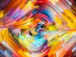 Colorful Tsunami Wave wallpaper