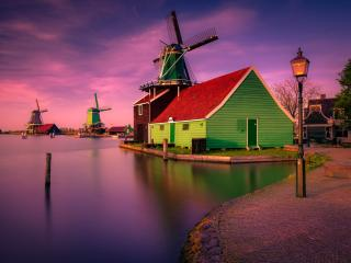 Colorful Village Home Netherlands wallpaper