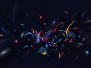 compound, forms, colorful wallpaper