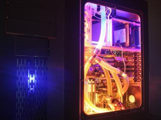 computer, cooling, water wallpaper