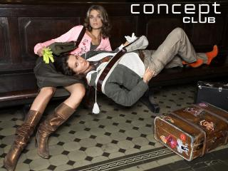 concept club, girls, suitcases wallpaper