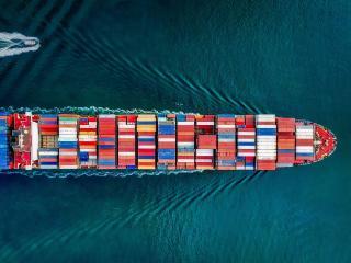 Container Ship in San Pedro California wallpaper